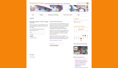 Sign-in or sign-up no the science-club.lu website
