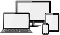 An image showing multiple devices of different sizes that can all browse the web